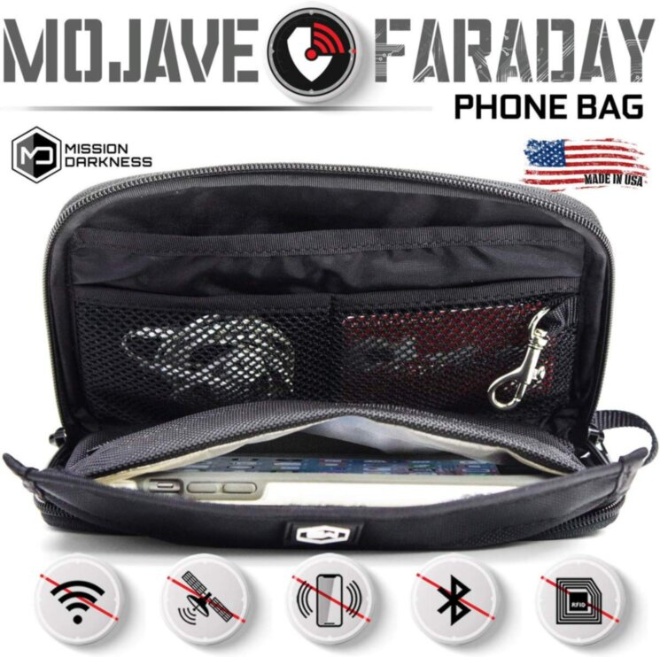Экранирующая сумка MISSION DARKNESS™ MOJAVE FARADAY PHONE BAG